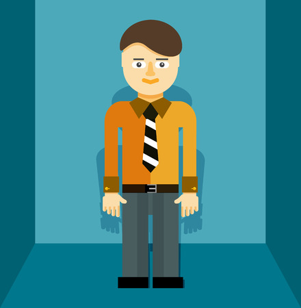 Young businessman icon illustration - flat concept Vector