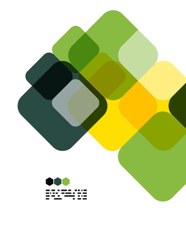 Warm modern color geometric shape abstract background with copy space Vector