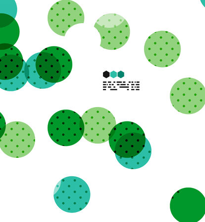 Bright green and blue textured geometric shapes isolated on white - modern design template Vector
