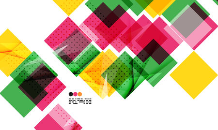 repeate: Bright colorful textured geometric shapes isolated on white - modern design template