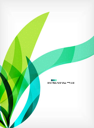 Bright colorful business flowing shapes design template. Futuristic waves Vector
