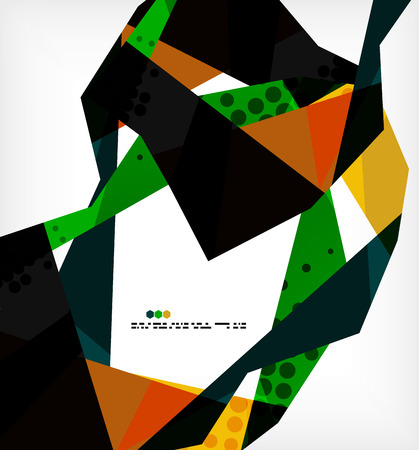 Geometrical unusual pattern - business abstract modern design Vector