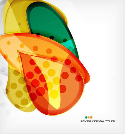 Large glossy round shapes abstract vector background Vector