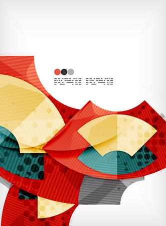 Modern futuristic techno abstract composition