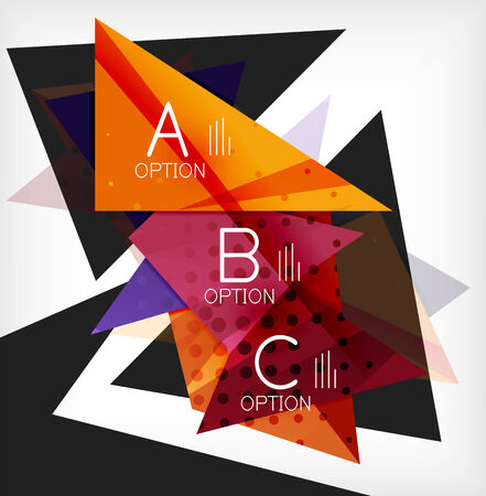 Infographic abstract background with options