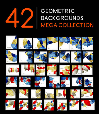 mega: Mega collection of abstract backgrounds Illustration