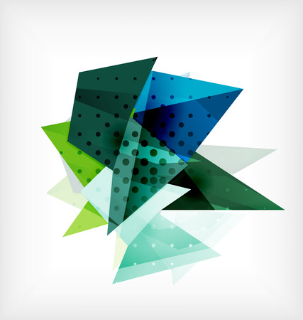 3d triangle: Abstract 3d triangle blank background