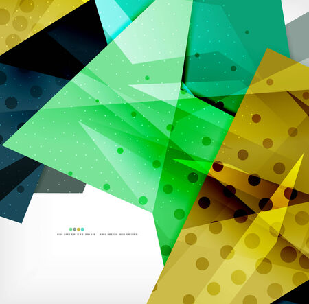 overlapping: Abstract colorful overlapping composition