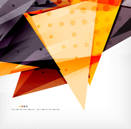 overlapping: Modern 3d glossy overlapping triangles