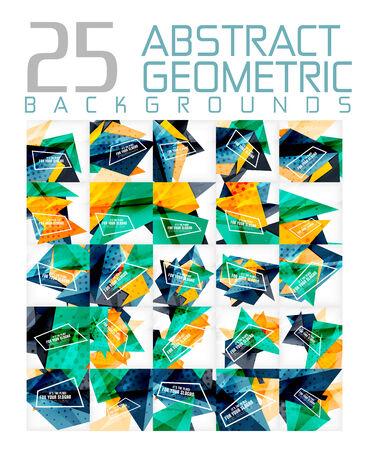 Mega colleciton of futuristic backgrounds Illustration
