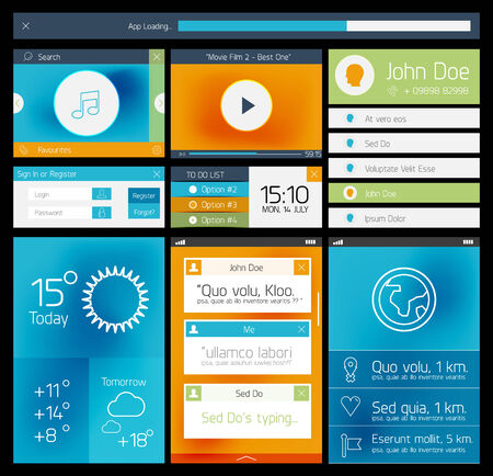 Ui flat web and mobile element Vector
