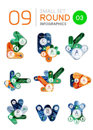 Modern business infographic templates Vector