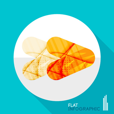 looped shape: Modern geometric infographic in trendy flat style. Business abstract layout collection Illustration
