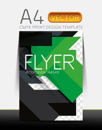 Abstract modern flyer brochure design template with sample text or business A4 booklet cover Vector