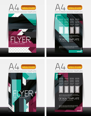 abstract modern flyer brochure design templates collection with