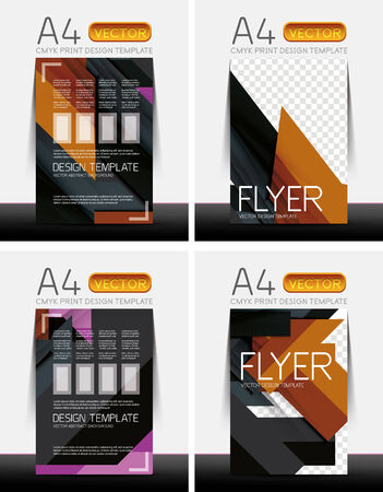 Abstract Modern Flyer Brochure Design Templates Collection With ...
