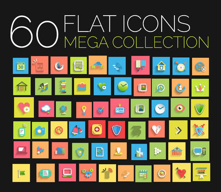 Flat icons mega collection Vector