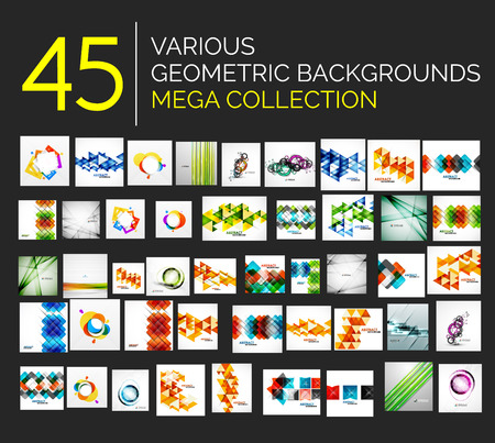Set of various abstract backgrounds Vector