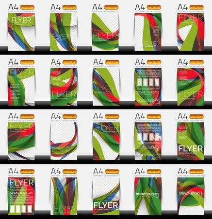 Set of business geometric design flyer templates Vector