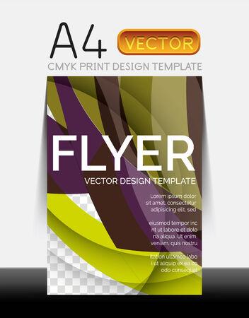 Vector Moderne Flyerbedruckung Standard-Bild - 30259937