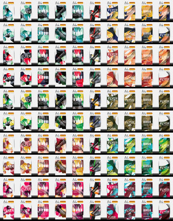 Set of 100 flyer templates Vector