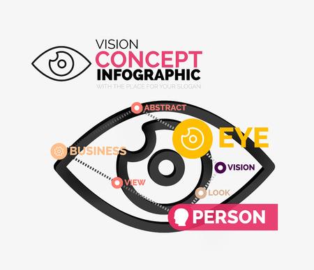 Vision eye infographic conceptual composition Vector