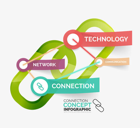 Vector connection concept infographic Vector