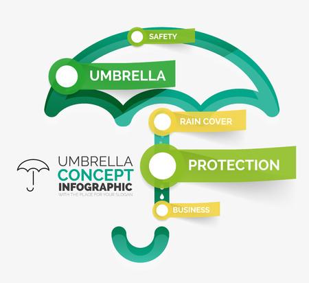 key words art: Umbrella infographic vector illustration
