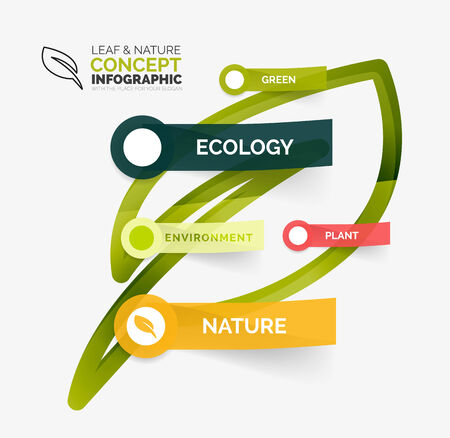 Eco leaf infographic concept Vector