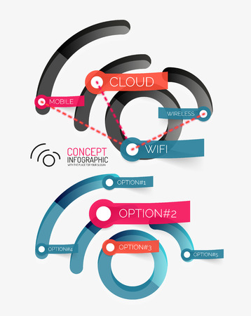 key words art: Vector wifi concept and tag cloud