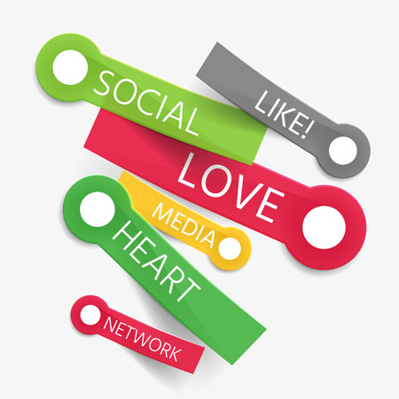 Vector social like tag cloud of stickers Vector