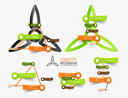 keywords: Eco windmill infographics with keywords
