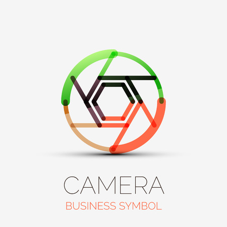Shutter icon company logo, business symbol concept Vector