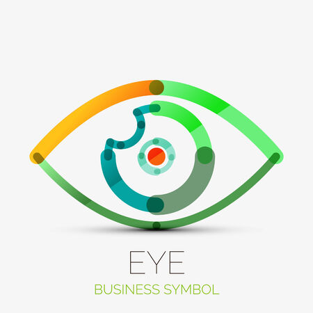 Humam eye company logo, business concept Vector