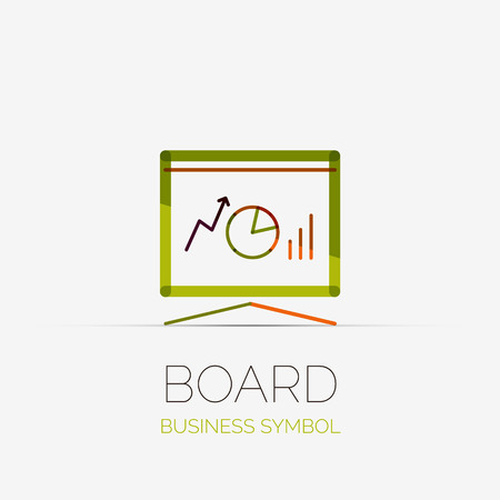 company board: Presentation board company logo, business concept Illustration