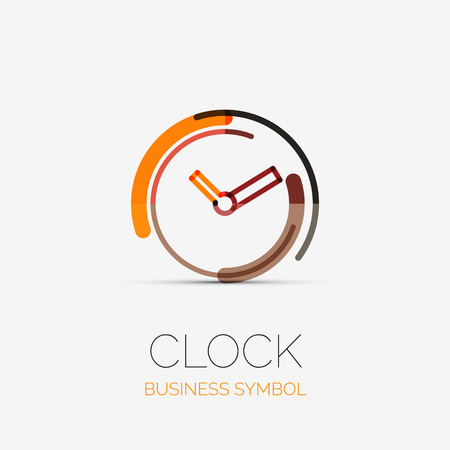 Clock, time company logo, business concept Vector