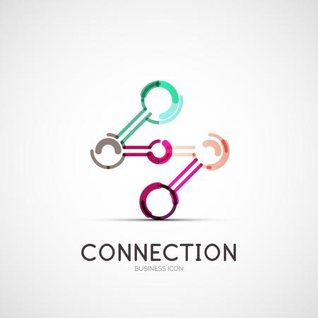 Icono de Conexión de logotipo de la empresa, concepto de negocio