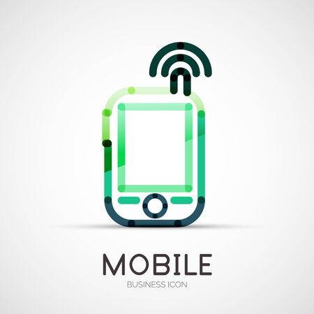 mobile phone icon: Mobile phone icon company logo, business concept Illustration