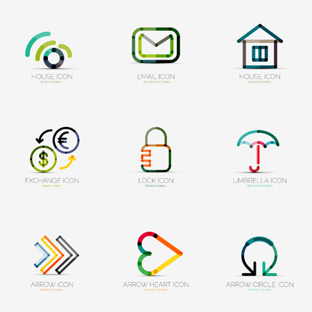 identity protection: Set of various  business icons