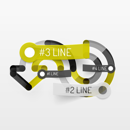 Embossed minimal style line diagram and stickers