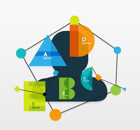 Business geometric infographic diagram layout Vector