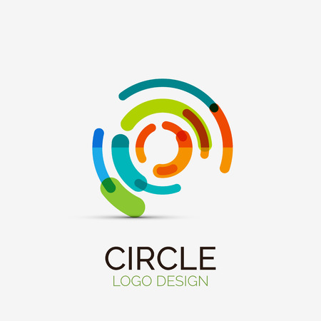 logos design: Hi-tech circle company logo, business concept