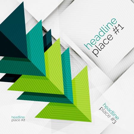 Business futuristic triangle composition Illustration