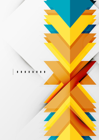 Futuristic geometric shapes, minimal design Vector