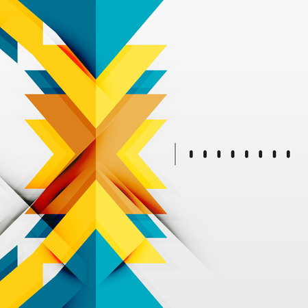 Futuristic geometric shapes, minimal design