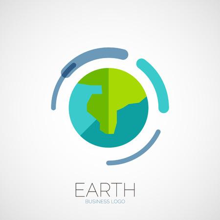 Earth company logo design Vector