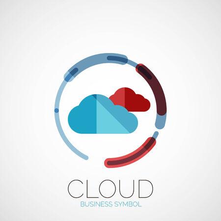 Cloud storage, company logo, minimal design Vector