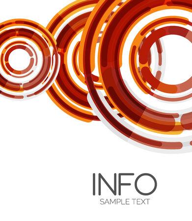 hitech: Futuristic design elements hi-tech layout Illustration