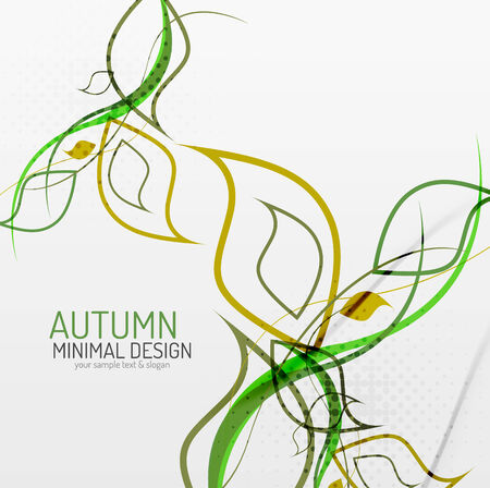 border designs: Autumn floral minimal background