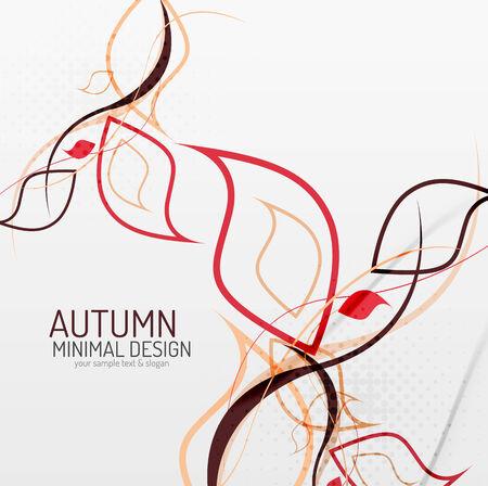 minimal: Autumn floral minimal background